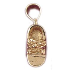 14K GOLD BABY CHARM - BABY BOOT #5934