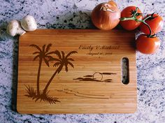 personalized cutting board hawaii island honeymoon we Wood Burning Patterns, Wood Burning Art, Lace Wedding Invitations, Diy Invitations, Wedding Anniversary Gifts, Wedding Gifts, Navy Wedding Flowers, Wall Decor Stickers, Wall Decals