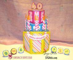 SVG Attic Blog: My Birthday Cake #svgattic #svg