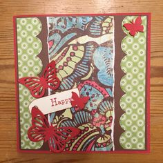 Scrapbooking card Happy