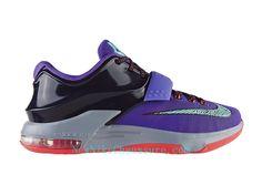 competitive price 381ff 2cdbf Nike KD 7 Lightning 534 - Chaussure De Basket-ball pour Homme Pas Cher  Pourpre Noir-653996-535 - Boutique Nike, Nike Baskets Pas Cher en Ligne