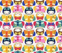 books2 fabric by gaiamarfurt on Spoonflower - custom fabric