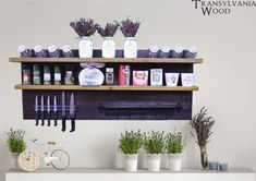 Wooden Spices Shelf, Wood Spice Rack, Storage Display, Organizer, Wall mounted spice rack, Spice jars, Kitchen decor, Magnetic knife holder #RusticSpiceRack #KitchenStorage #KitchenDecor #KitchenOrganizer #WallDesign #SpiceStorageGift #MagneticKnife #HandmadeDisplay #ShouSugiBan #WoodenShelf
