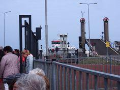 Op de pier , Holwerd naar Ameland. Friesland. tHE nETHERLANDS