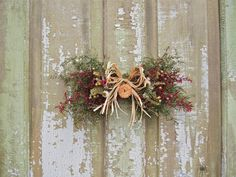 Small Country DRIED FLOWER Swag Rustic and by theflowerpatch