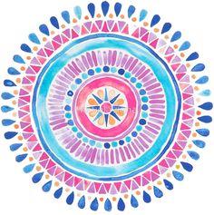 mandala, background, and wallpaper image Watercolor Mandala, Mandala Drawing, Watercolor Paintings, Watercolors, Painting Inspiration, Art Inspo, Do It Yourself Inspiration, Diy Décoration, Art Plastique