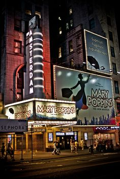 Mary Poppins ~ New Amsterdam Theatre, NYC Went to see this show while in NYC Broadway News, Broadway Theatre, Movie Theater, Musical Theatre, Mary Poppins Broadway, A New York Minute, New Amsterdam, Upstate New York, City That Never Sleeps