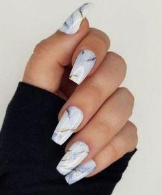 25 Marble Nail Design with Water & Nail Polish 1 - Nails Art Ideas Marble Nail Designs, Colorful Nail Designs, Fall Nail Designs, Acrylic Nail Designs, Marble Acrylic Nails, Water Marble Nail Art, Fall Acrylic Nails, Manicure Y Pedicure, Gel Nails