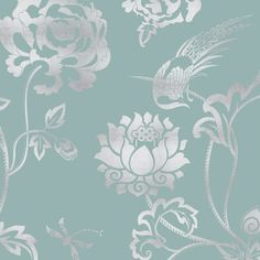 Peony Garden Designer Wallpaper from Nilaya by Asian Paints