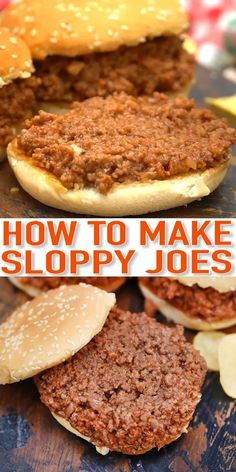 Turn ground beef into this delicious 30-Minute Sloppy Joe's Recipe that everyone will devour in seconds! Simple and easy, this meal is sure to be a hit! Healthy Sloppy Joe Recipe, Homemade Sloppy Joe Recipe, Healthy Sloppy Joes, Homemade Sloppy Joes, Sloppy Joes Recipe, Simple Sloppy Joe Recipe, Easy Pork Chop Recipes, Healthy Recipes, Ground Beef Recipes For Dinner