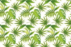 Tropical Leaves Print Wallpaper, custom made to suit your wall size by the UK's No.1 for wall murals. Custom design service and express delivery available.