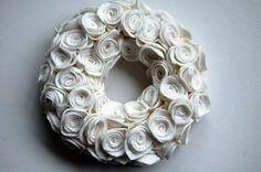 flannel rose wreath