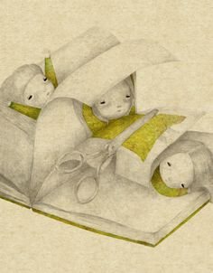 bibliolectors: Living in the books (illustration by Debora Guidi) Drawing Quotes, Art Drawings, Collages, Composition Art, Children's Book Illustration, Whimsical Art, Character Concept, Cute Art, Illustrations Posters