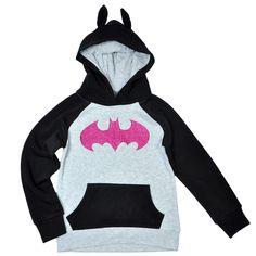 DC Batgirl Costume Sweatshirt Hoodie with Ears