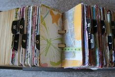 Scrapodex rolodex - many examples shown on her blog