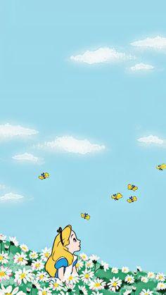 Trendy Ideas Wallpaper Disney Backgrounds Alice In Wonderland Disney Phone Wallpaper, Wallpaper Iphone Cute, Wallpaper Backgrounds, Disney Phone Backgrounds, Trendy Wallpaper, Art Disney, Disney Kunst, Disney Background, Whatsapp Wallpaper
