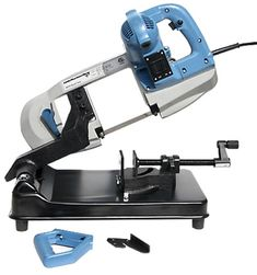Little Machine Shop Portable Band Saw. - Looks like a great hybrid of a portable bandsaw and a horizontally arranged base. Perfect for most of my metal cutting needs...