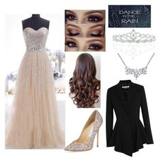 """""""The Prom Queen"""" by josefin-smilla ❤ liked on Polyvore featuring Kate Marie, Jimmy Choo, Givenchy, Blue Nile, women's clothing, women's fashion, women, female, woman and misses"""