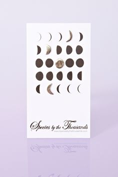 Phases of the Moon in earrings