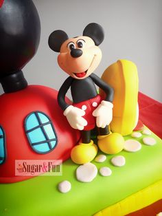 Mickey Mouse House Cake Bolo a Casa do Mickey Mouse