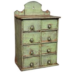 Hanging Spice Chest / Use in any room, for what-nots or jewelery.