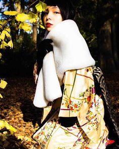 『女狐』  #きもの #着物 #キモノ #狐 #女狐 #紅葉 #秋 #東京カメラ部 #趣着物 #kimono #tokyocameraclub #photo #fox