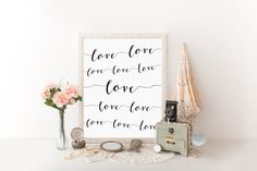 Printable art Master bedroom wall decor printable Romantic art print Black and white quote art Love sign Bedroom art print Love quote print
