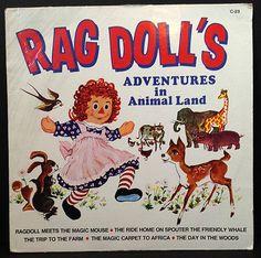 "Vintage Children's LP"" Rag Doll's Adventures in Animal Land ""Happy House Record"
