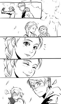 Image discovered by Find images and videos about elsa, jack frost and jelsa on We Heart It - the app to get lost in what you love. Jelsa, Jack Y Elsa, Jack Frost And Elsa, Disney Crossovers, Disney Memes, Pixar, Disney Ships, Pinturas Disney, Mermaid Pictures