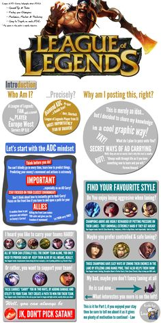 Infographic with Tips and advices for ADCs on League of Legends from a D1 EUW player - https://twitter.com/iTraffyLaw