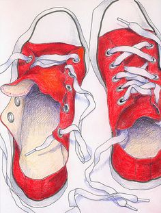 Sneaker art - gr 6 lesson to go with designing your own shoe