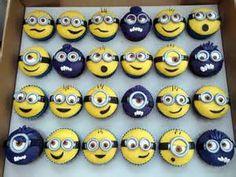 Despicable Me Minion Party - Boksomdaais Minions Birthday Theme, Minion Party, Birthday Cakes, Minion Treats, 2nd Birthday, Deco Cupcake, Cupcake Cakes, Cupcakes Dos Minions, Despicable Me Cupcakes