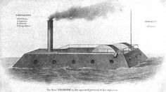 """CSS Louisiana, one of the """"Misssissippi Monsters"""". She was suffering from engine troubles at the Battle of New Orleans and spent her time as a floating battery. She was burned to prevent capture when New Orleans fell."""