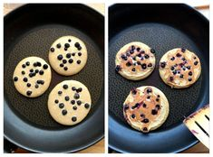 Sunne, saftige havrepannekaker med blåbær - LINDASTUHAUG Pancakes, Cookies, Breakfast, Desserts, Food, Biscuits, Morning Coffee, Meal, Crepes