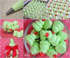 Creative Ideas - DIY Christmas Tree Meringues   iCreativeIdeas.com Follow Us on Facebook --> https://www.facebook.com/iCreativeIdeas
