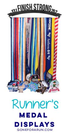 Show off your medals with exclusive medal hangers from Gone For a Run!