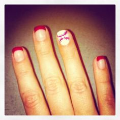 Baseball Nails! GO RANGERS!!!