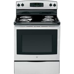 Single oven is two inches taller and an inch deeper than our rental. GE 5.3 cu. ft. Free-Standing Electric  Range - Stainless Steel