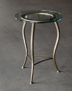 Beck Drink Table - Hand made in USA by Charleston Forge, Boone NC. http://www.charlestonforge.com/drink_tables.htm