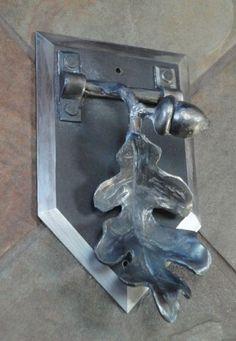 Oak Branch Door Knocker by Incandescent Ironworks, Ltd.: