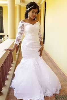 Vintage African Mermaid Wedding Dresses 2019 Off Shoulder Appliques Beaded Long Sleeves Sweep Train Arabic Bridal Gowns Plus Size Customized Glamorous Wedding Dresses Grecian Wedding Dresses From Best Grecian Wedding, Mermaid Wedding, Lace Mermaid, Lace Wedding, Bridal Gowns, Wedding Gowns, Informal Wedding Dresses, Long Sleeve Wedding, Glamorous Wedding