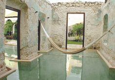 Hacienda Puerta Campeche, A Luxury Collection Hotel - Yucatan Peninsula, Mexico Outdoor Pool, Indoor Outdoor, Outdoor Living, Spa Hammam, Future House, My House, Water Hammock, Backyard Hammock, Pavillion