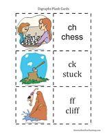 Digraphs Flash Cards - Have Fun Teaching