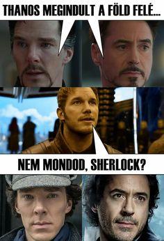 Marvel Memes, Marvel Avengers, Sherlock Holmes, Funny Jokes, Haha, Funny Pictures, Star Wars, Superhero, Comics