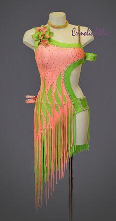 Dance costume for competition latin ballroom dress show dance samba rumba cha… Ballroom Costumes, Jazz Costumes, Trendy Dresses, Nice Dresses, Latin Ballroom Dresses, Skating Dresses, Dance Outfits, Costume Design, Dance Wear