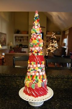 Candy Christmas Tree DIY - as shown in Tea Party on this Board
