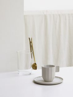 Soft minimalism - COS x HAY home accessories, including a beautiful coffee cup which looks like it is made out of paper