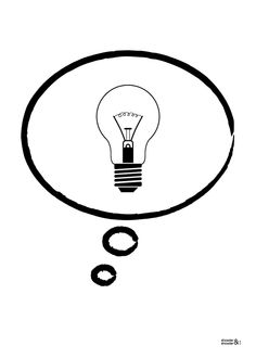 Light Bulb Idea Print (in Black & White)