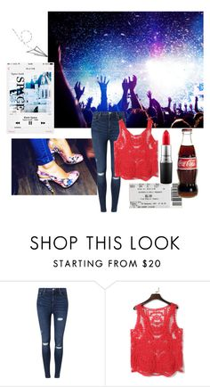 """concert."" by gema-z ❤ liked on Polyvore featuring mode, Miss Selfridge, MAC Cosmetics, women's clothing, women, female, woman, misses en juniors"
