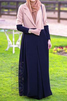 muslim girl clothes hijab clothes wholesale clothing fashionable islamic clothing abaya shops two-tone jacket zara Hijab Fashion 2016, Arab Fashion, Islamic Fashion, Muslim Fashion, Modest Fashion, Fashion Outfits, Modest Dresses, Modest Outfits, Modele Hijab